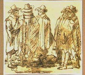 Vijf staande mannen