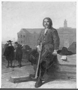 Portret van tsaar Peter de Grote (1672-1725) op de Oostindische Werf te Amsterdam