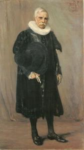 Portret van burgemeester van Hamburg  Dr. Carl Friedrich Petersen (1809-1892)