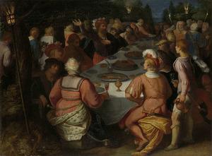 De samenzwering van Claudius Civilis met de Bataven in het Schakerbos
