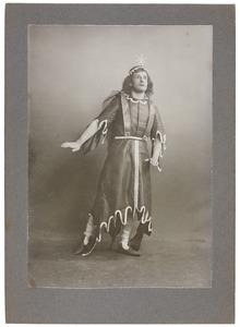 Portret van H.L. de Beaufort als Appollion in het toneelstuk 'Lucifer' van Vondel