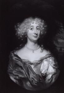 Portret van een vrouw, met laag uitgesneden hals