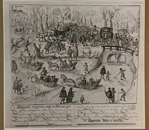 Prins Maurits en Spinola ontmoeten elkaar bij de Hoornbrug te Rijswijk, 6 februari 1608