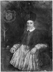 Portret van Boudewijn Catz (1602-1663),pastoor en deken van het Haarlems kapittel
