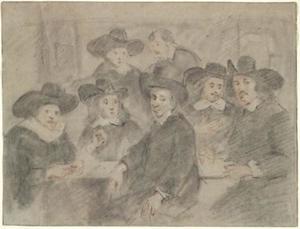 De regenten van het Oude Zijds Huiszittenhuis te Amsterdam