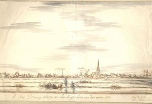 Gezicht op Doesburg vanaf de IJsselkant
