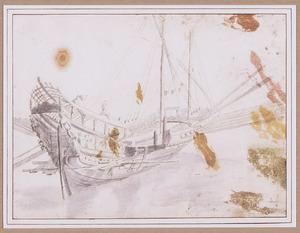 Werkzaamheden op een varend galei
