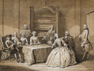 Portret van Jeronimo de Bosch (1677-1767) en zijn familie