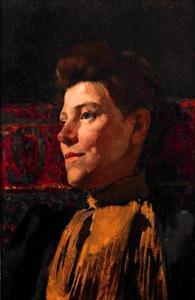 Portret van Marie Wandscheer (1856-1936)