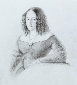 Portret van Wilhelmina Maria Frederika Dyserinck Dekker (1812-1891)