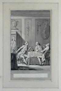 Illustratie bij 'De arme en de rijke' uit de Fabelen en vertelsels van F.C. Gellert