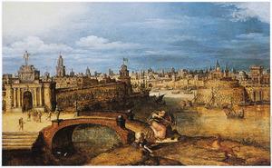 Semiramis op leeuwenjacht voor de stad Babylon