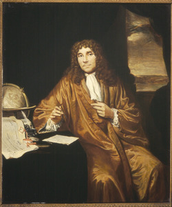 Portret van Anthonie van Leeuwenhoek (1632-1723), natuurkundige te Delft