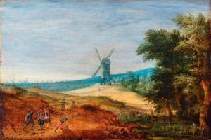 Landschap met een windmolen