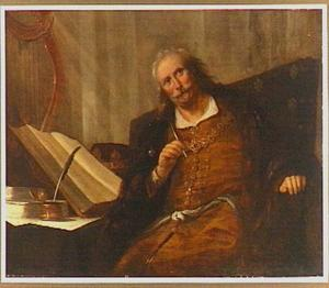 David de psalmen schrijvend