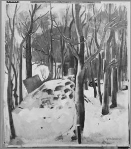 Bos in de sneeuw