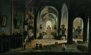 Kerkinterieur van een renaissance kerk