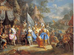 De ontmoeting tussen Alexander de Grote en Thalestris, de koningin der Amazones (Quintus Curtius Rufus 4 cap. 5)