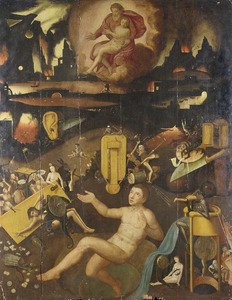 Dives, de  rijke man in de hel en de arme Lazarus in Abrahams schoot