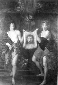 Het sundarium gedragen door twee engelen