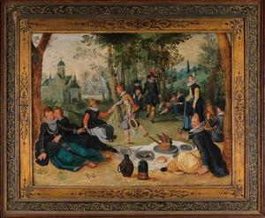 Een picknick in een park