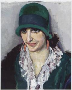 Portret van een vrouw, mogelijk Dina Levij (1899-1981), echtgenote van Jacob Bethlem