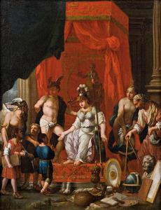 Minervan als godin van de Kunsten