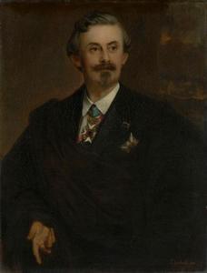 Portret van de schrijver, verzamelaar en mecenas Adolf Friedrich Graf von Schack (1815-1894)