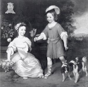 Dubbelportret van Godard Philip van Lynden d'Aspremont (1662-1735) en Jacoba van Lynden d'Aspremont (....-....)