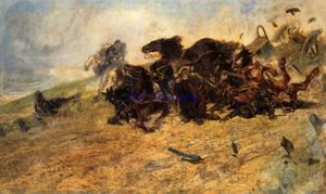 De explosie van het caisson (munitiewagen)