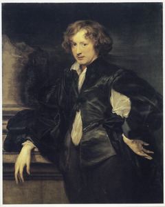 Zelfportret van Anthony van Dyck op ongeveer 20-jarige leeftijd