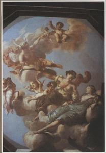Plafondschildering uit de Rozynkorf te Dordrecht
