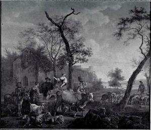 Landelijk tafereel met vee