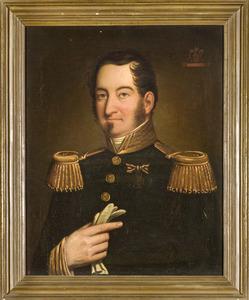 Portret van Augustus Everardus Danielus Franciscus baron van Voorst tot Voorst (1807-1881)