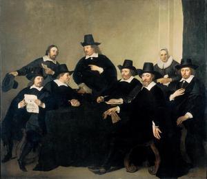 De regenten, huisvader en huismoeder van het Nieuwezijds Huiszittenhuis te Amsterdam