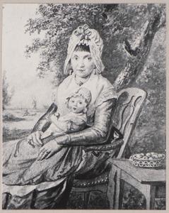 Portret van een vrouw met kind uit de familie Bernard