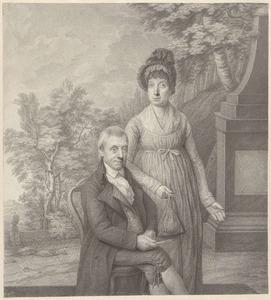 Dubbelportret van Johannes Cornelis Mertens (1745-1821) en Hendrika Janssen (....-....)