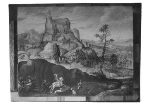 Landschap met La Sainte-Baume en het wereldse leven van Maria Magdalena