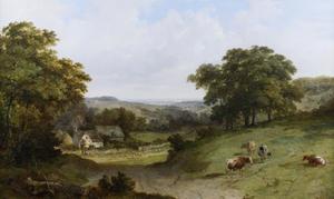 Landschap met vee in Surrey