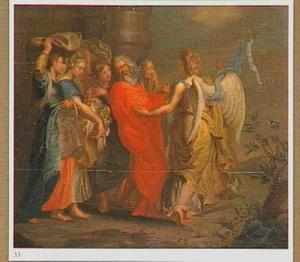 De engel spoort Lot en zijn familie aan Sodom snel te verlaten (Genesis 19:15-18)