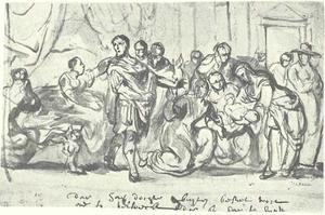 Geboortescène uit de klassieke literatuur, mogelijk de geboorte van Oidipus