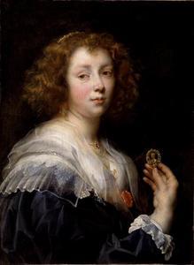 Portret van een vrouw, mogelijk Elisabeth Jordaens (1617-1678)