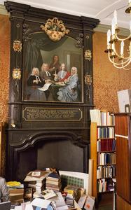 Schoorsteenbetimmering in Lodewijk XIV-stijl met schildering