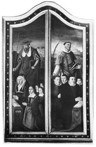 Luiken van een drieluik met de portretten van Gaert van Triest (....-1566) en Kanis Wendel (....-1575) en hun kinderen
