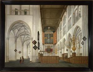 Interieur van de Grote of Sint Laurenskerk te Alkmaar