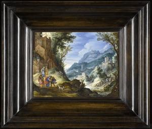 Heuvellandschap met de terugkeer van Tobias