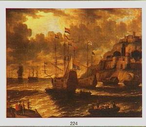 Hollandse en Engelse schepen voor mediterrane kust