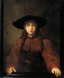 Jonge vrouw in een schilderijlijst