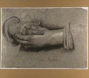 Studie van de handen van een vrouw