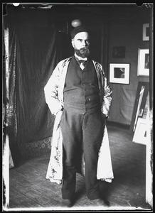 Portret van Paul Verlaine in het atelier van Willem Witsen